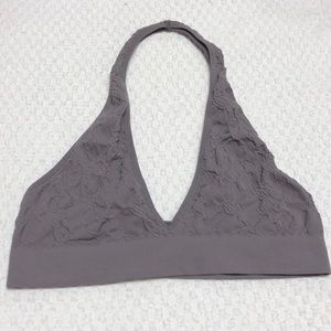 Urban Outfitters Grey Halter Bralette